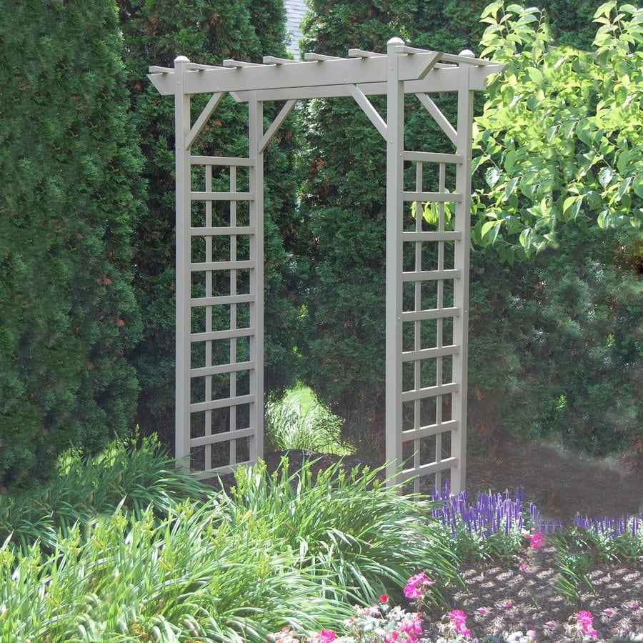 Dura-Trel 64-in W x 85-in H Brown Garden Arbor