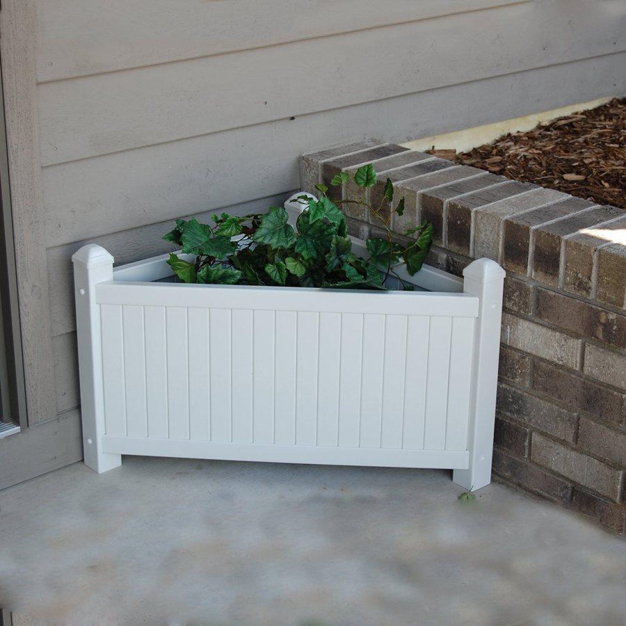 Dura-Trel 17-in H x 20-in W x 20-in D White Outdoor Planter