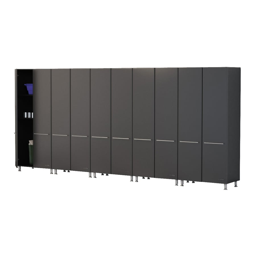Ulti-Mate 177.5-in W x 80-in H Graphite Grey Garage Storage System