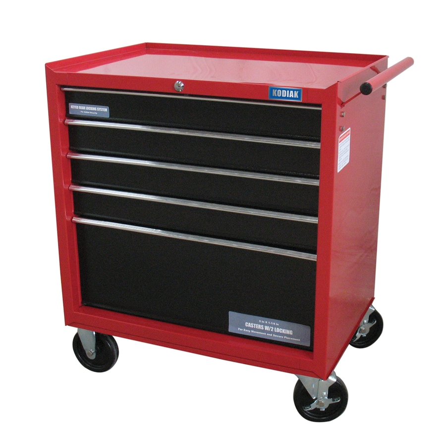 WEN 31 5-in x 27-in 5-Drawer Ball-Bearing Steel Tool Cabinet (Red