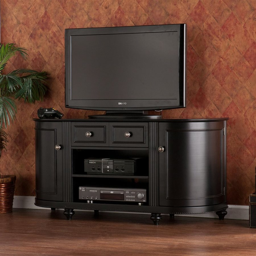 Boston Loft Furnishings Fontaine Black Half-Round TV Cabinet
