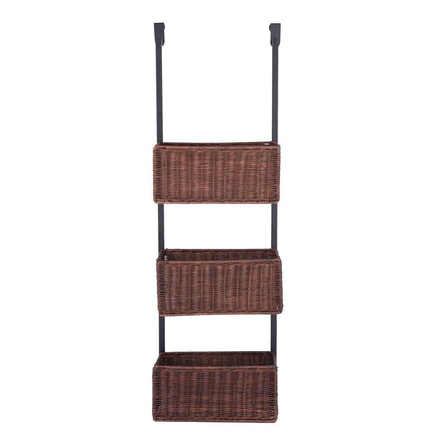 Boston Loft Furnishings Covington 12-in W x 38.25-in H x 8.25-in D Black/Espresso Wicker Basket