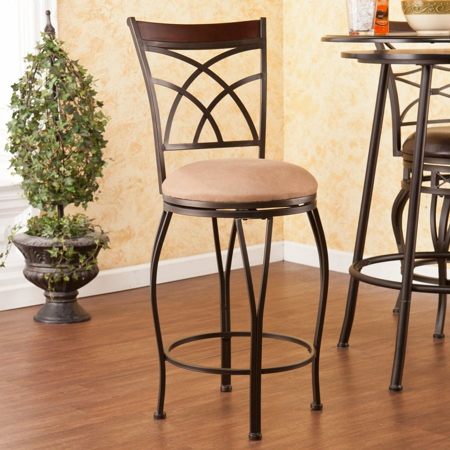 Boston Loft Furnishings Devaney Dark Champagne 25-in Counter Stool
