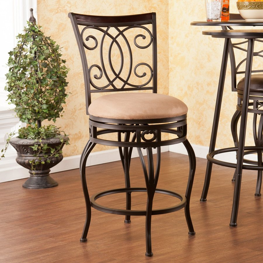 Boston Loft Furnishings Talia Dark Champagne 25.25-in Counter Stool