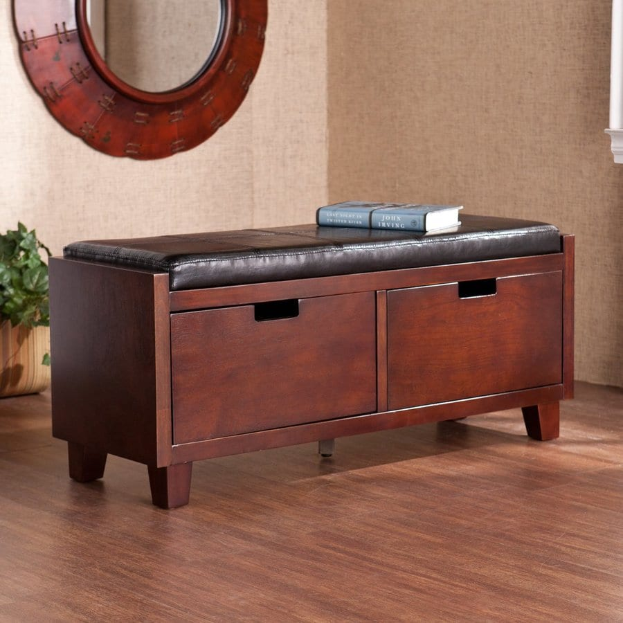 Merveilleux Boston Loft Furnishings Lucia Casual Espresso Storage Bench