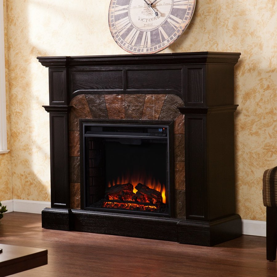 Shop boston loft furnishings 45 5 in w 4700 btu ebony wood Loft fireplace