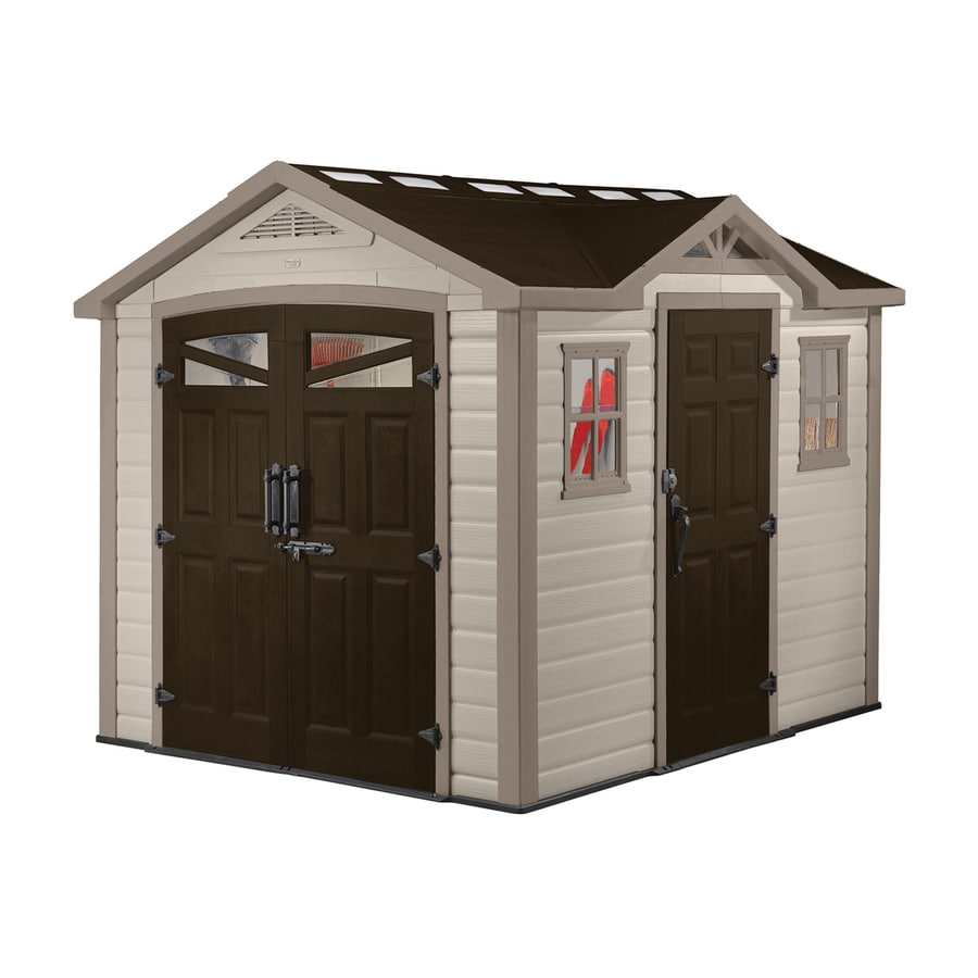 Garden Sheds 9x8 shop keter summit gable storage shed (common: 9-ft x 8-ft