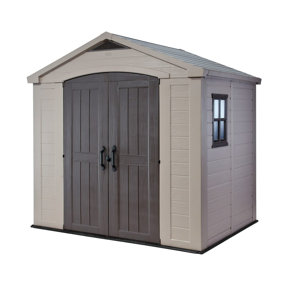 Shop keter factor gable storage shed common 6 ft x 8 ft - Abri de jardin resine keter ...