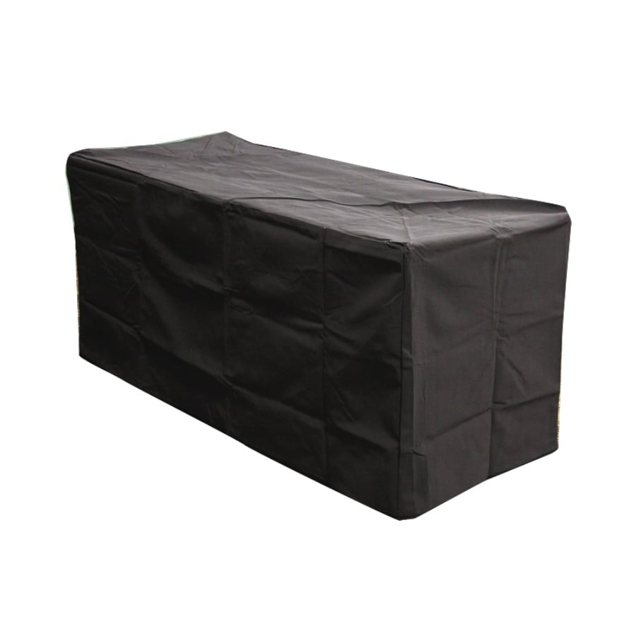 Outdoor Greatroom Company 49.25-in Black Rectangle Firepit Cover