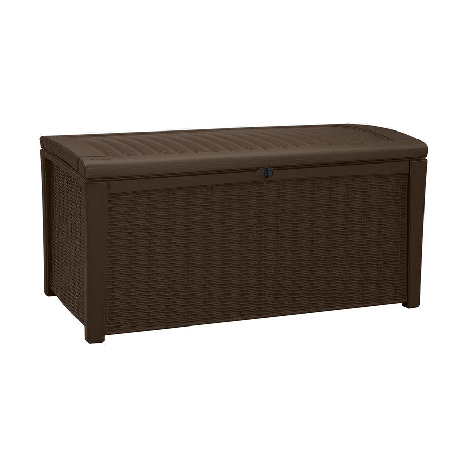 Keter Borneo 51-in L x 27.6-in W 110-Gallon Espresso Brown Resin Deck Box