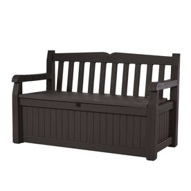 Exceptional Keter Eden 23.4 In W X 54.6 In L Brown Resin Patio Bench