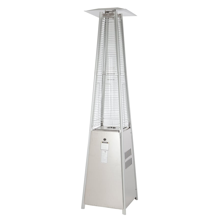 fire sense 40000 btu stainless steel floorstanding liquid propane patio heater - Patio Heater Lowes