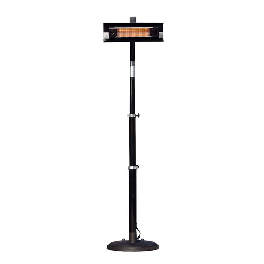 black outdoor heater p fire infrared mounted watt patio sense heating electric wall