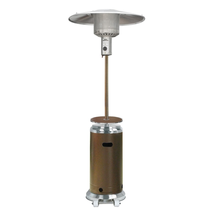 AZ  Patio 41000-BTU Hammered Bronze Stainless Steel Floorstanding Liquid Propane Patio Heater