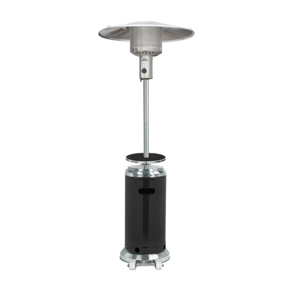 AZ  Patio 41000-BTU Black Stainless Steel Floorstanding Liquid Propane Patio Heater