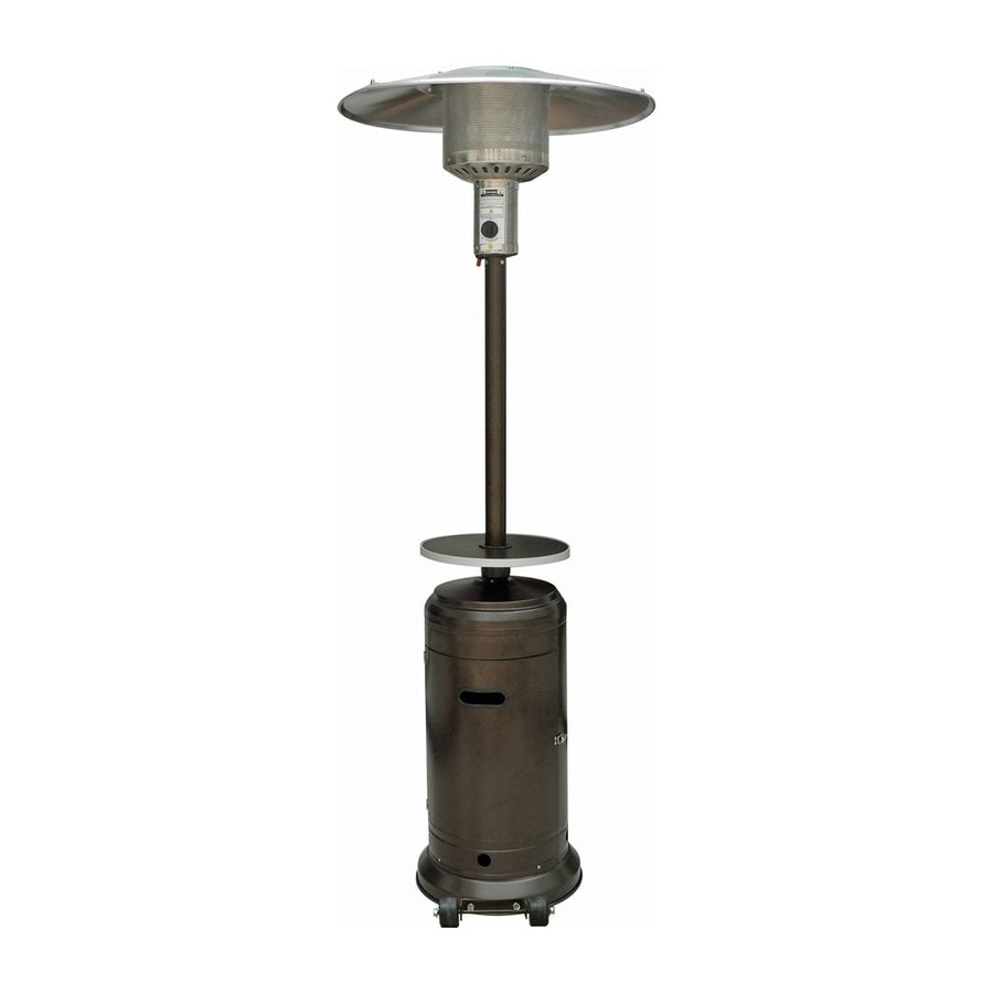 AZ  Patio 41000-BTU Hammered Bronze Steel Floorstanding Liquid Propane Patio Heater
