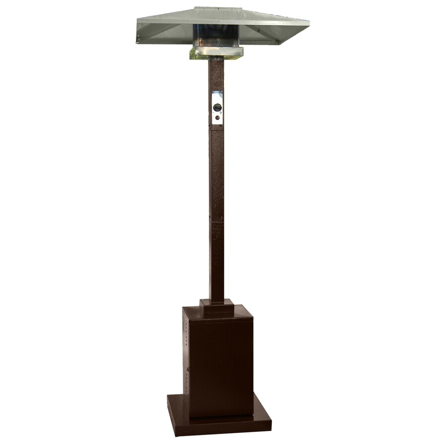 AZ Patio 38000 BTU Hammered Bronze Steel Floorstanding Liquid Propane Patio  Heater