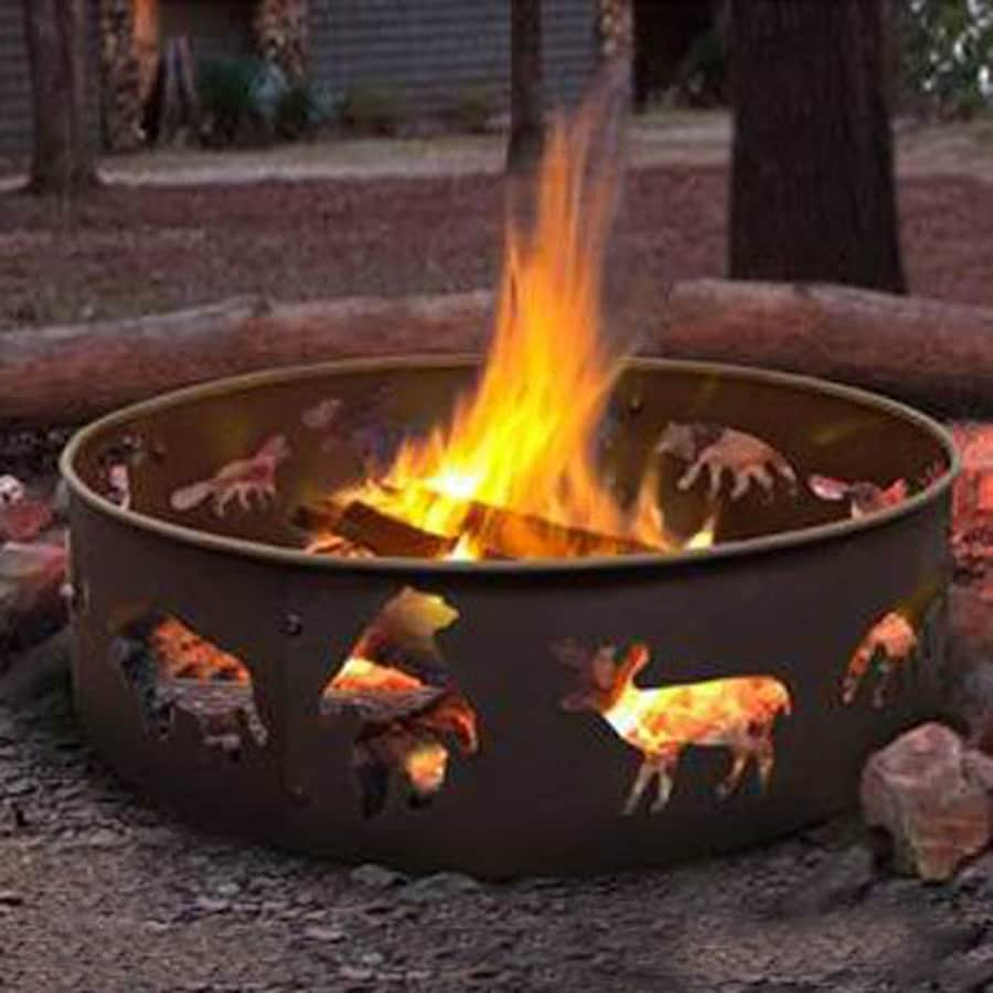 Landmann USA Big Sky 28-in W Black Steel Wood-Burning Fire Pit