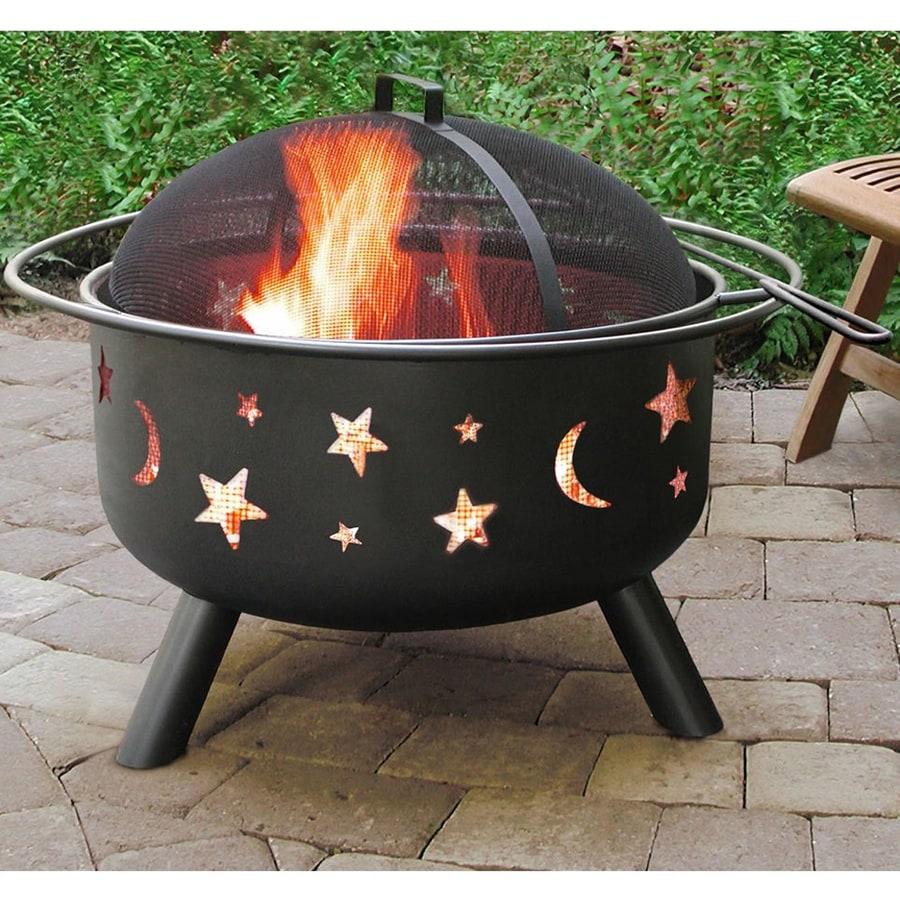 Landmann USA Big Sky 29.5-in W Black Steel Wood-Burning Fire Pit