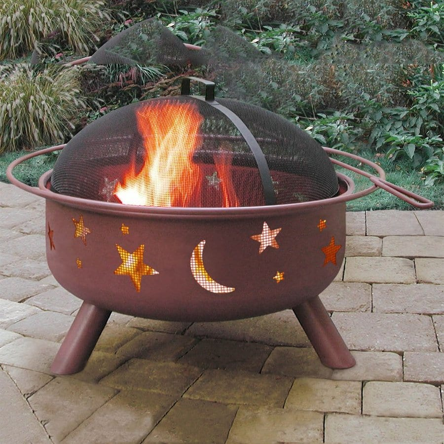 Landmann USA Big Sky 29.75-in W Georgia Clay Steel Wood-Burning Fire Pit