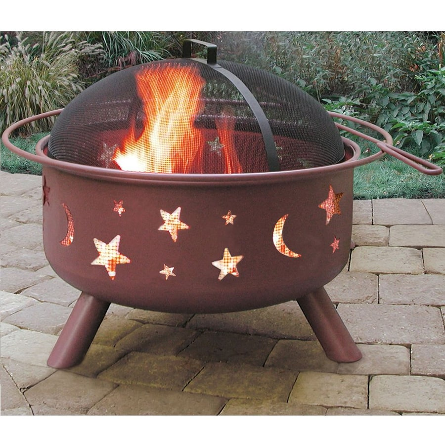 Landmann USA Big Sky 29.5-in W Georgia Clay Steel Wood-Burning Fire Pit