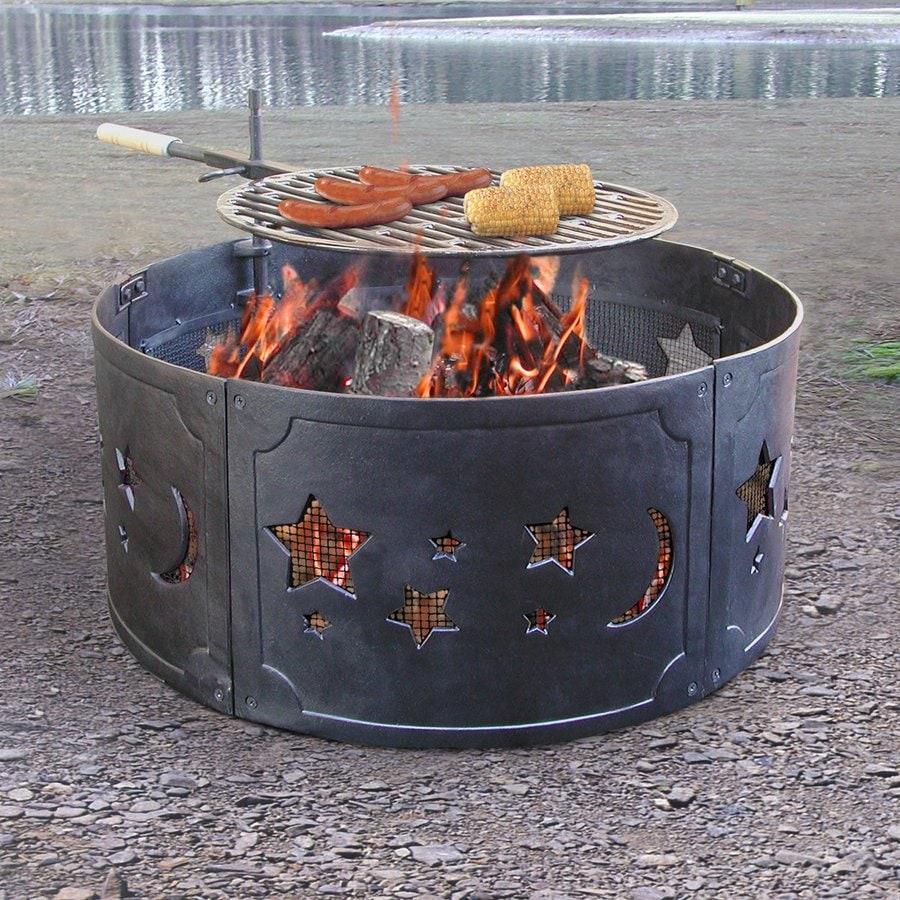 Wood Burning Patio Fire Pits shop landmann usa big sky 26-in w cast iron wood-burning fire pit