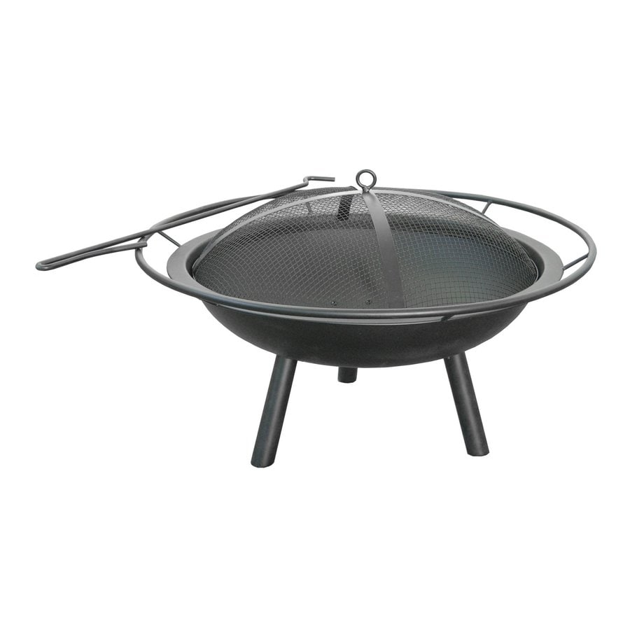 Landmann USA 28.5-in W Black Steel Wood-Burning Fire Pit