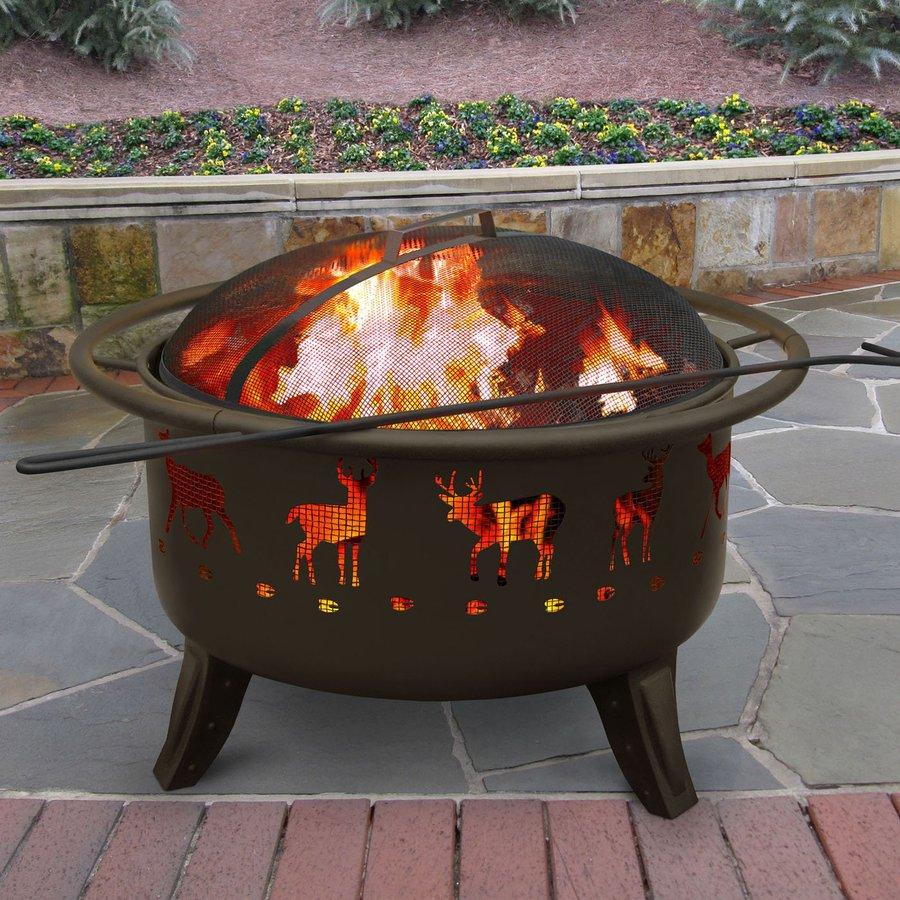 Landmann USA 29.5-in W Metallic Brown Steel Wood-Burning Fire Pit