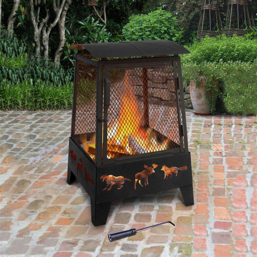 Landmann USA Haywood 22-in W Black Steel Wood-Burning Fire Pit