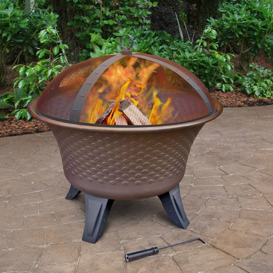 Landmann USA 28-in W Steel Wood-Burning Fire Pit