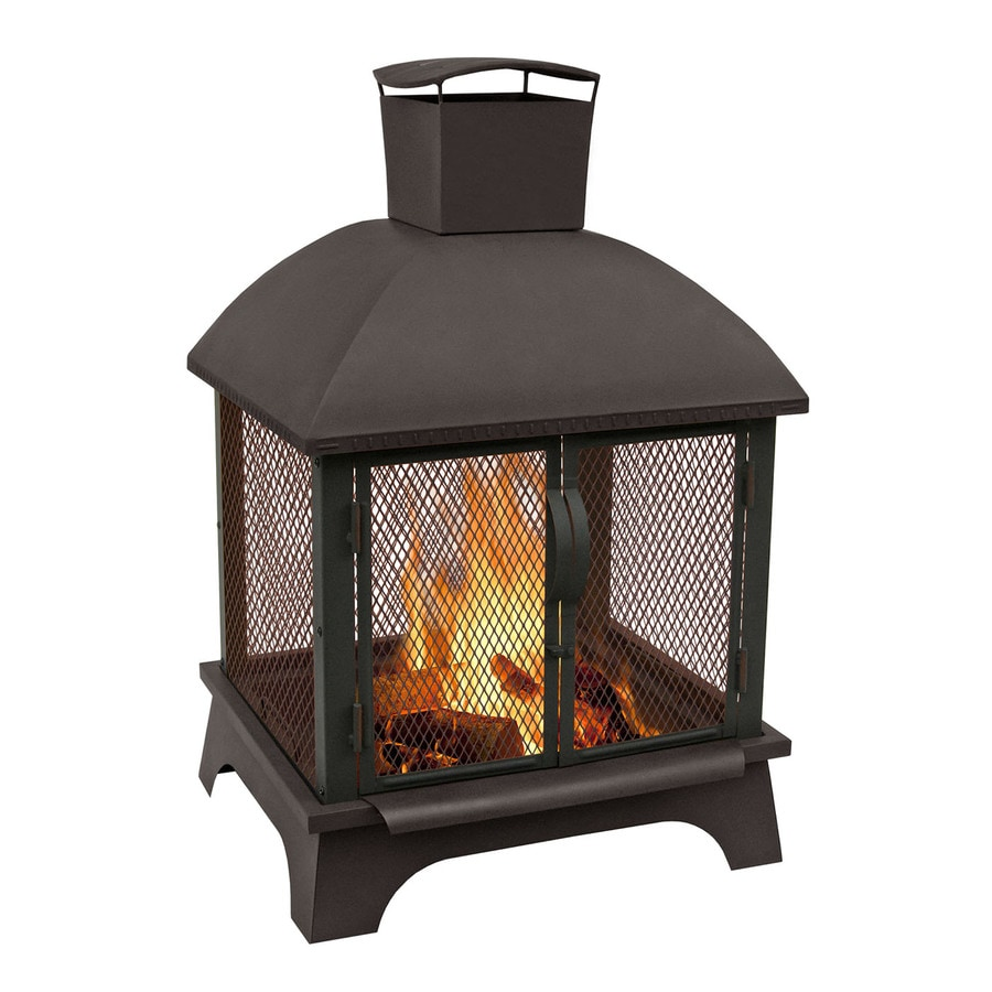 Landmann USA 26-in W Black Sandpaint Steel Wood-Burning Fire Pit