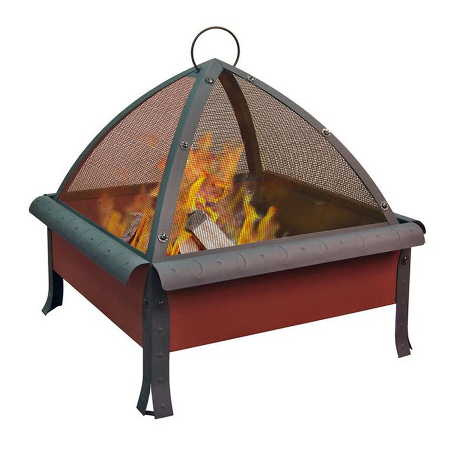 Landmann USA 27.6-in W Georgia Clay Steel Wood-Burning Fire Pit