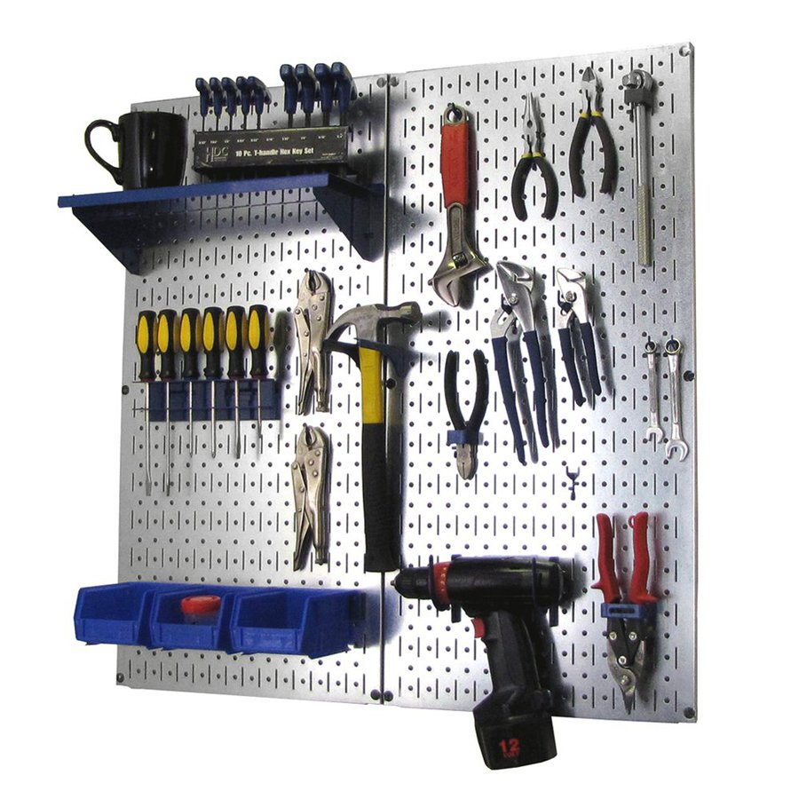 shop wall control 23 piece steel pegboards kit actual 16 in x 32 in at. Black Bedroom Furniture Sets. Home Design Ideas