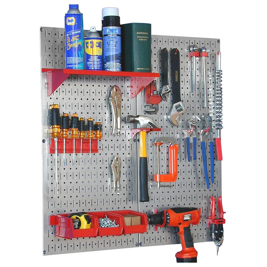Wall Control 23 Piece Steel Pegboards Kit Actual 16 In X