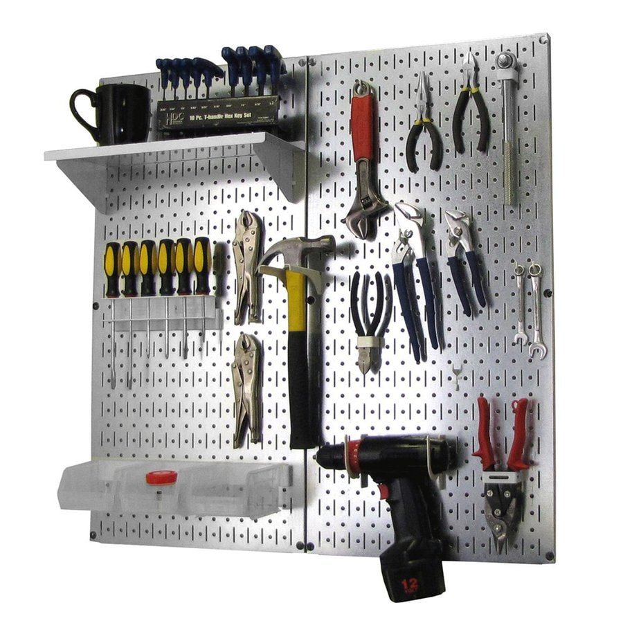 Wall Control 23-Piece Steel Pegboards Kit (Actual: 16-in x 32-in)