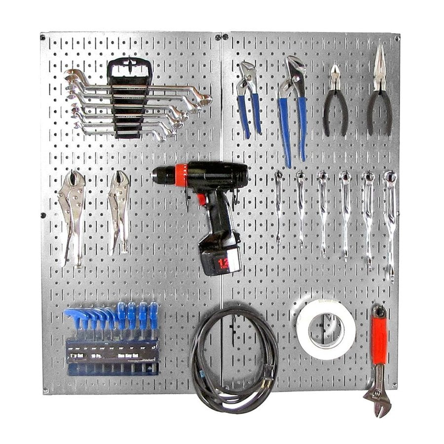 Wall Control 22 Piece Steel Pegboards Kit Actual 16 In X