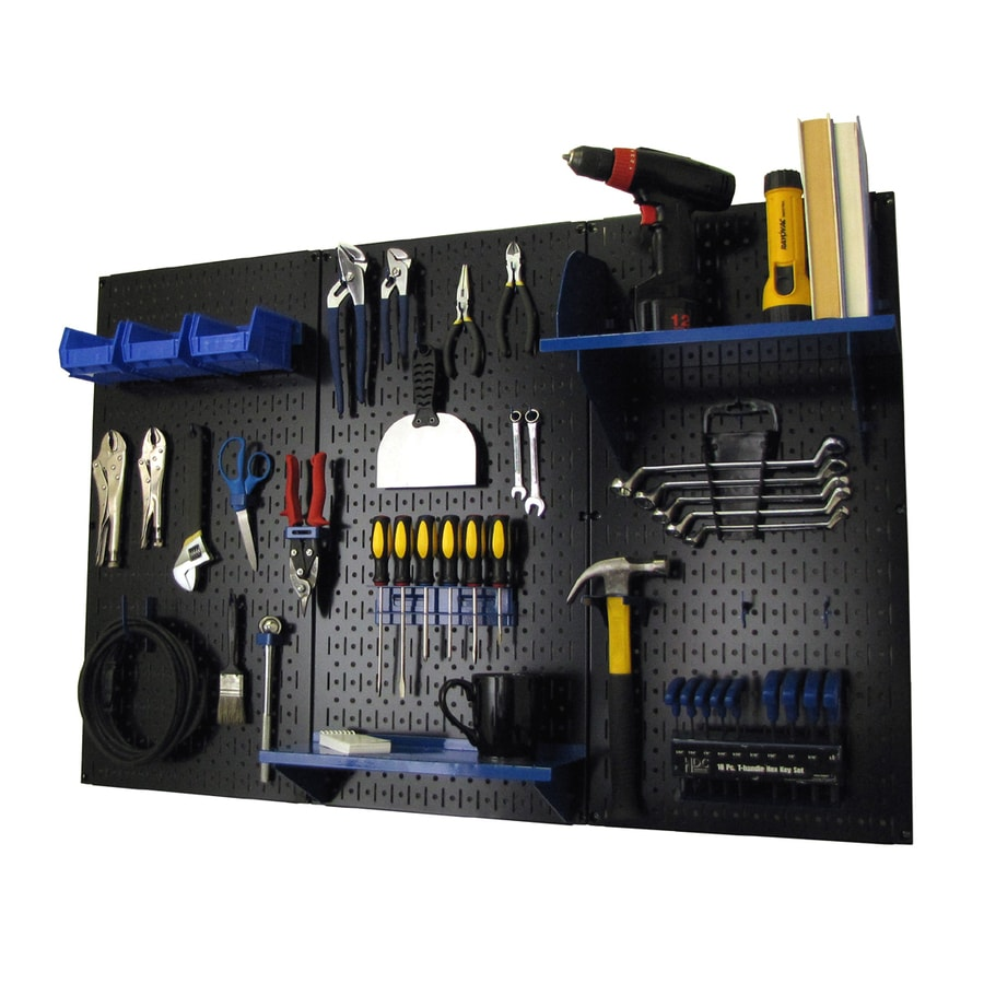 Wall Control 30-Piece Steel Pegboards Kit (Actual: 16-in x 32-in)