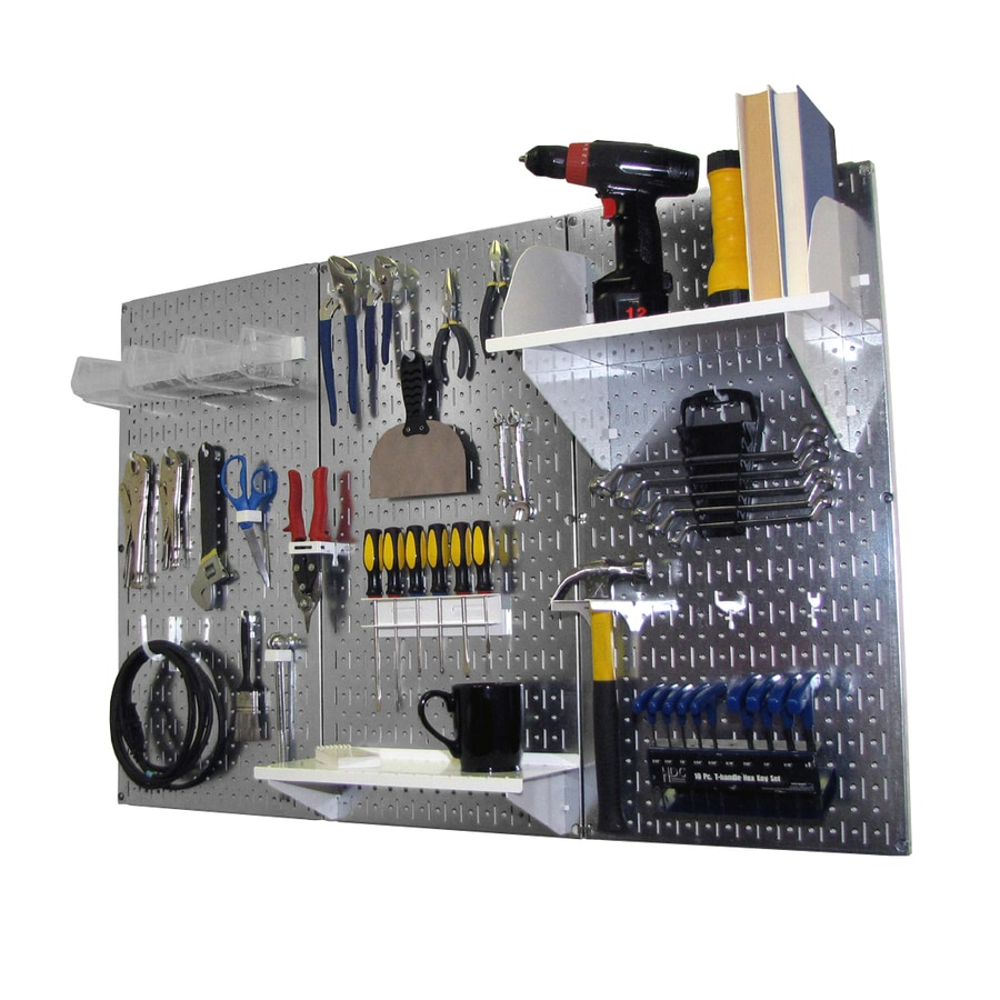 Wall Control Steel Pegboard Kit (Actual: 16-in x 32-in)