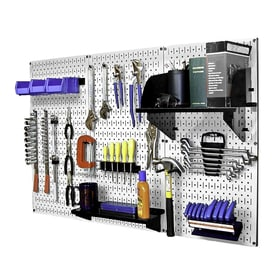 wall control 30piece steel pegboards kit actual 16in x 32 - Peg Boards