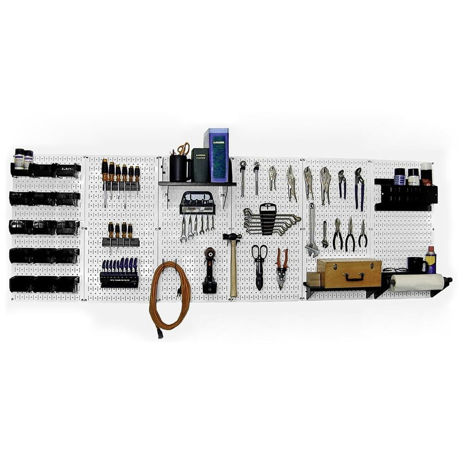 Wall Control 53-Piece Steel Pegboards Kit (Actual: 16-in x 32-in)