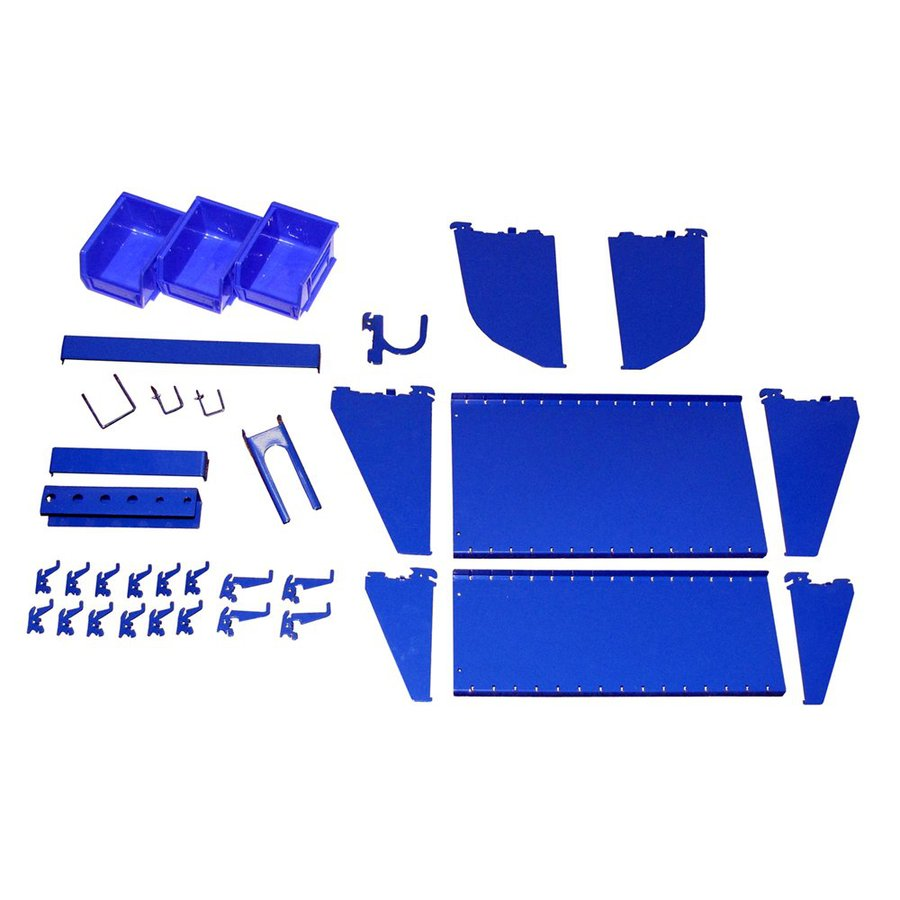 Wall Control KT400WRKBU Metal Pegboard Slotted Tool Board Workstation Accessory Kit
