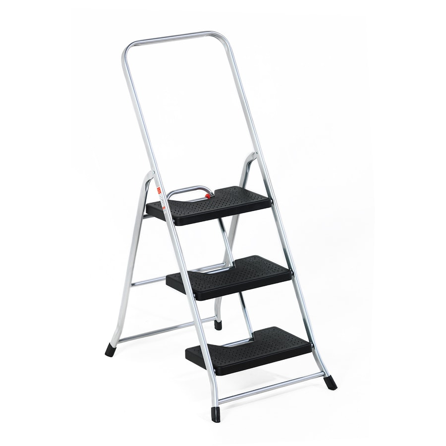 GPL 3-Step 250-lb Load Capacity Silver Aluminum Step Stool