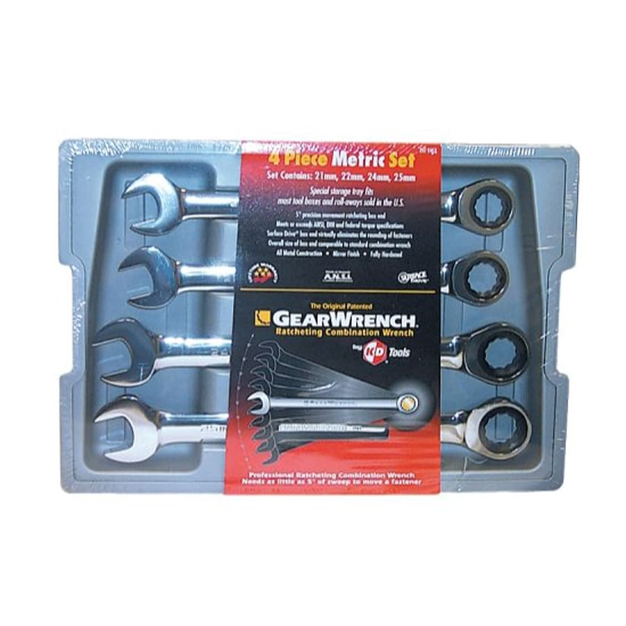 KD Tools 4-Piece Metric Ratchet Wrench Set with Case