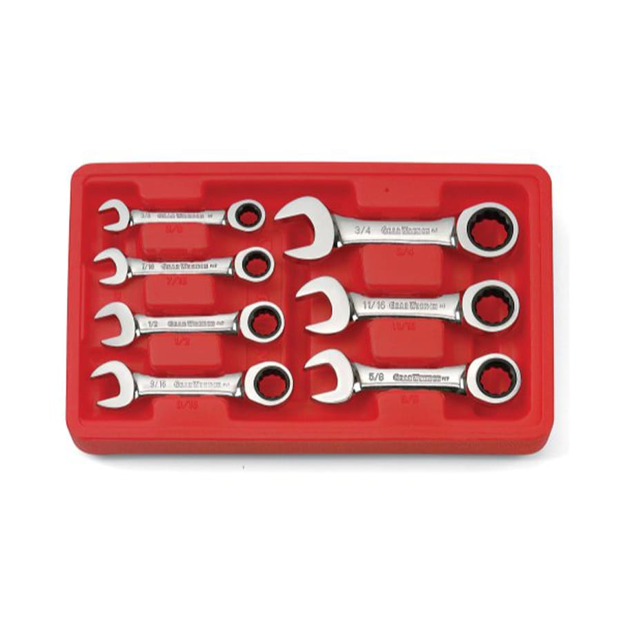KD Tools 7-Piece Standard (SAE) Ratchet Wrench Set with Case
