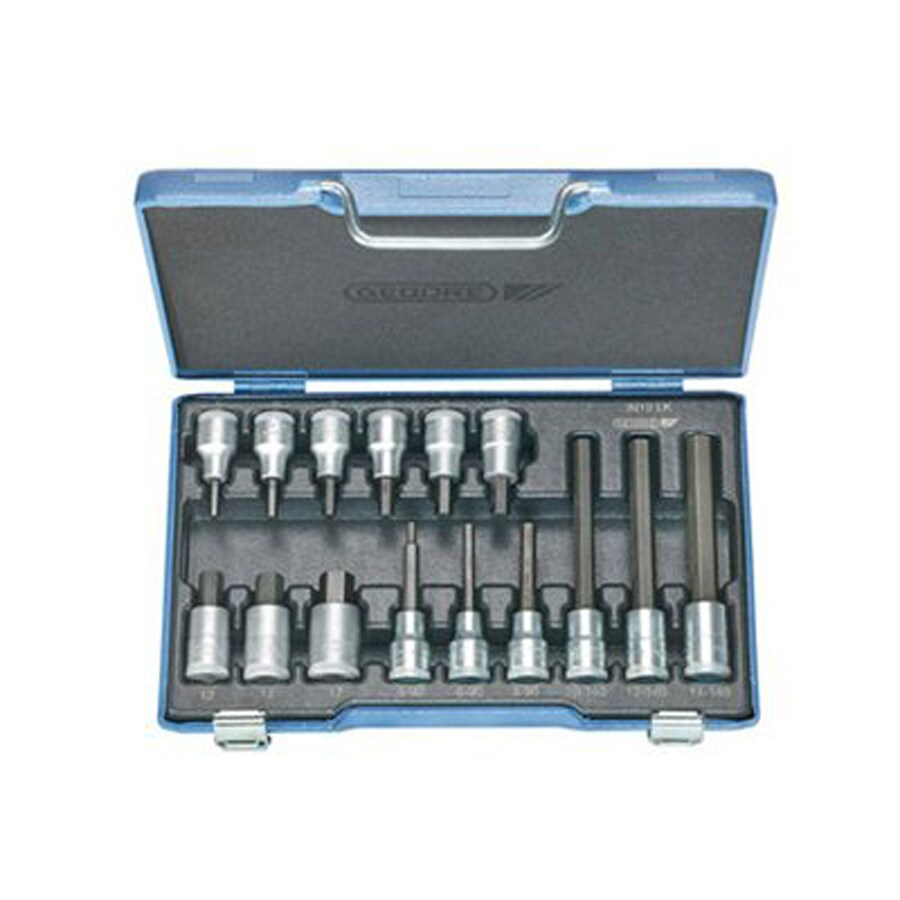 Gedore 15-Piece Metric 1/2-in Drive Socket Set with Case