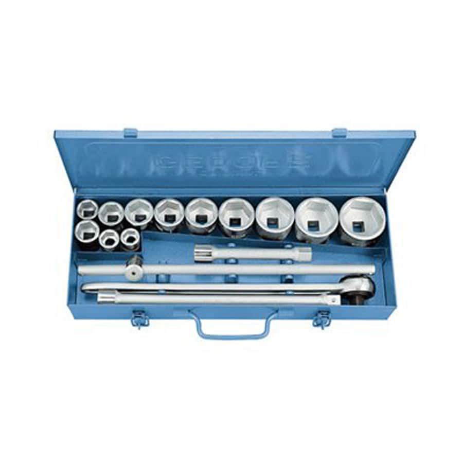 Gedore 16-Piece Metric 3/4-in Drive Socket Set with Case