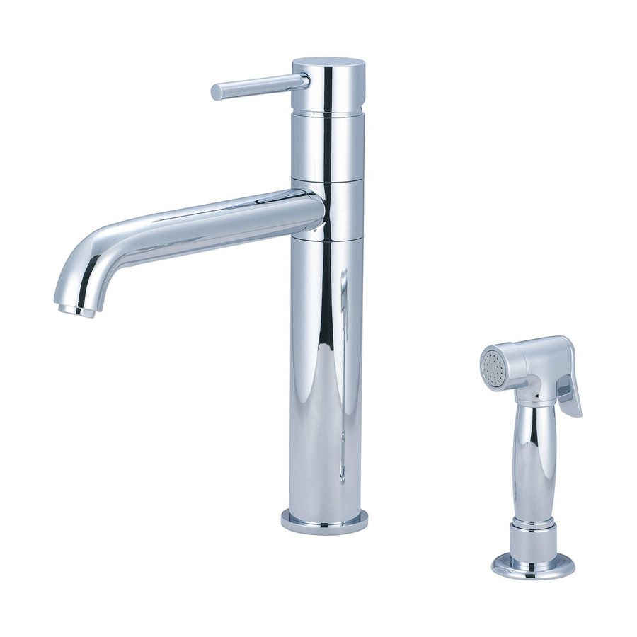 Pioneer Industries Motegi Polished Chrome 1-Handle High-Arc Kitchen Faucet with Side Spray