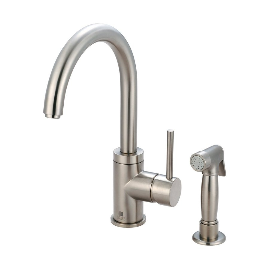 Pioneer Industries Motegi Brushed Nickel 1-Handle High-Arc Kitchen Faucet with Side Spray
