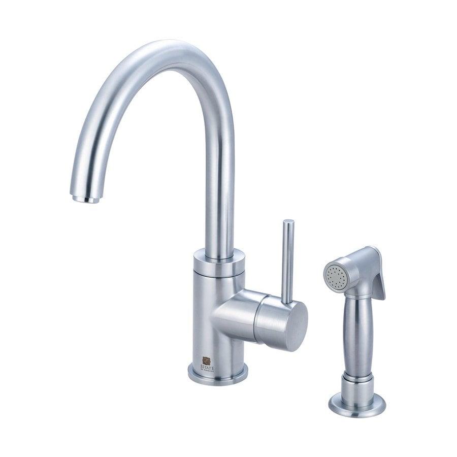 Pioneer Industries Motegi Stainless Steel 1-Handle Deck Mount High-Arc Kitchen Faucet