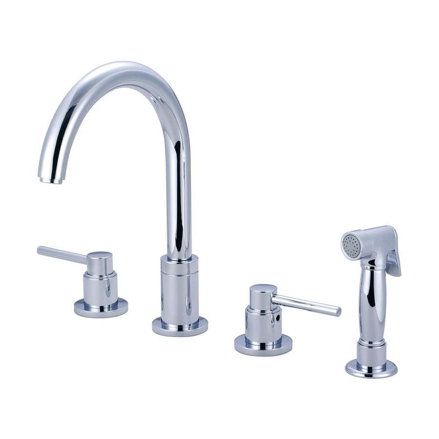 Pioneer Industries Motegi Polished Chrome 2-Handle High-Arc Kitchen Faucet with Side Spray